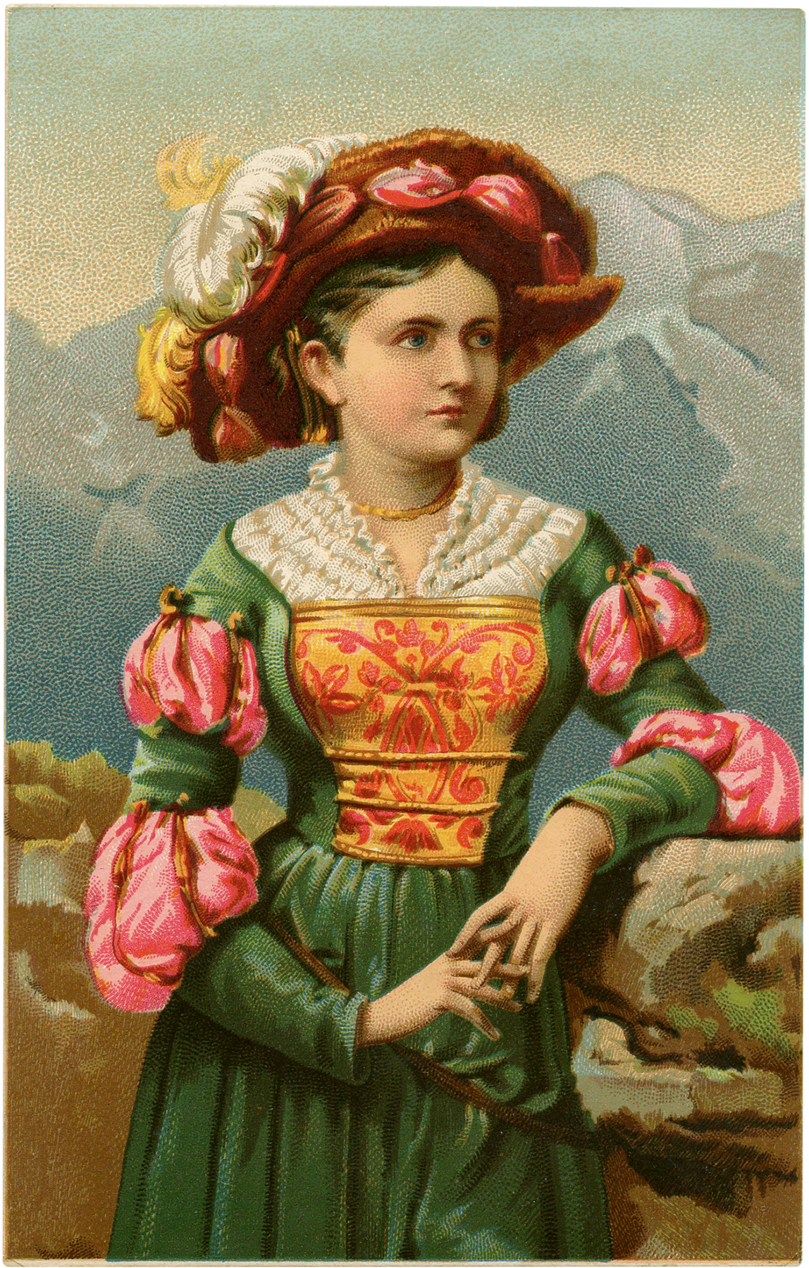 Girl with Medieval Costume Image