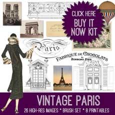 Vintage Paris Image Bundle – Stand Alone Kit – For Non Members!