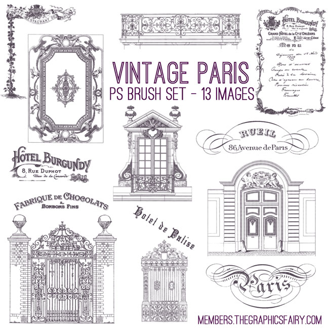 vintage_Paris_brush_set_graphicsfairy
