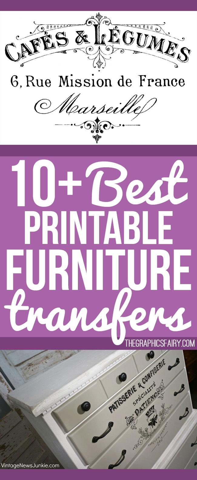 10 best printable transfers for furniture free the for Furniture transfers