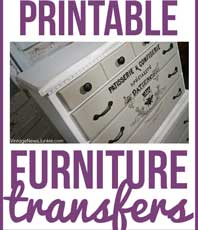 picture about Printable Transfers named 10+ Great Printable Transfers for Home furniture - Absolutely free! - The