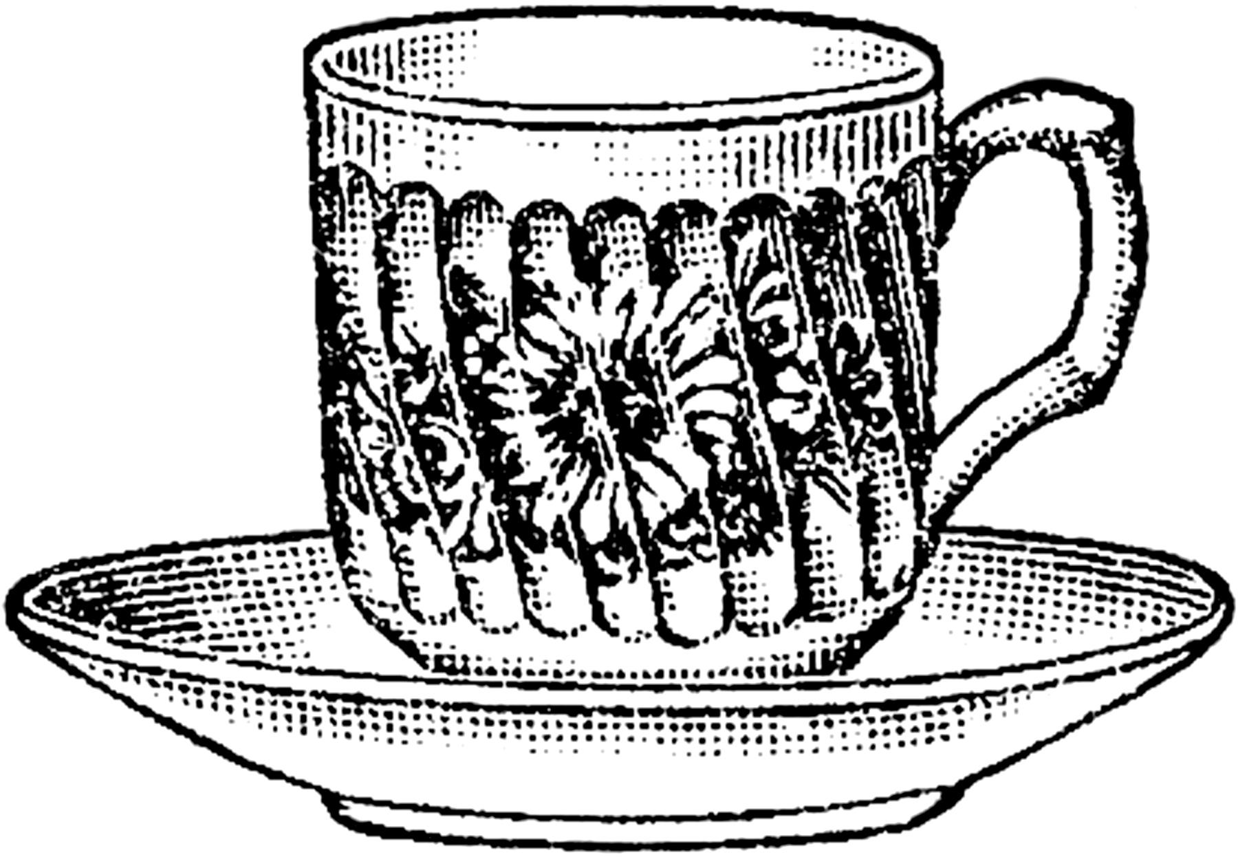 Floral Teacup Illustration