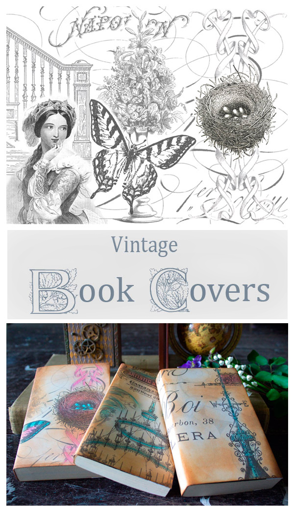 Make Vintage Printable Book Covers