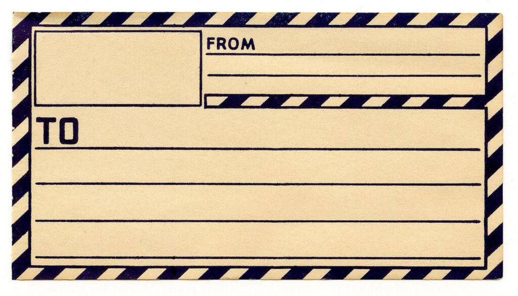 Postage Label with Blank Section