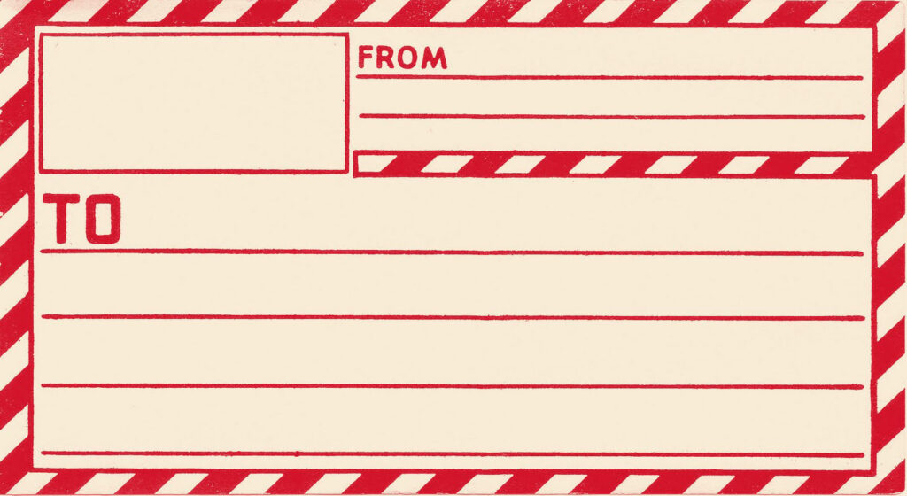 Red Postage Label Clipart