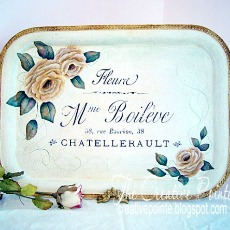 Hand Painted Rose Tray – Reader Feature