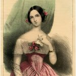 Victorian Roses Lady Image