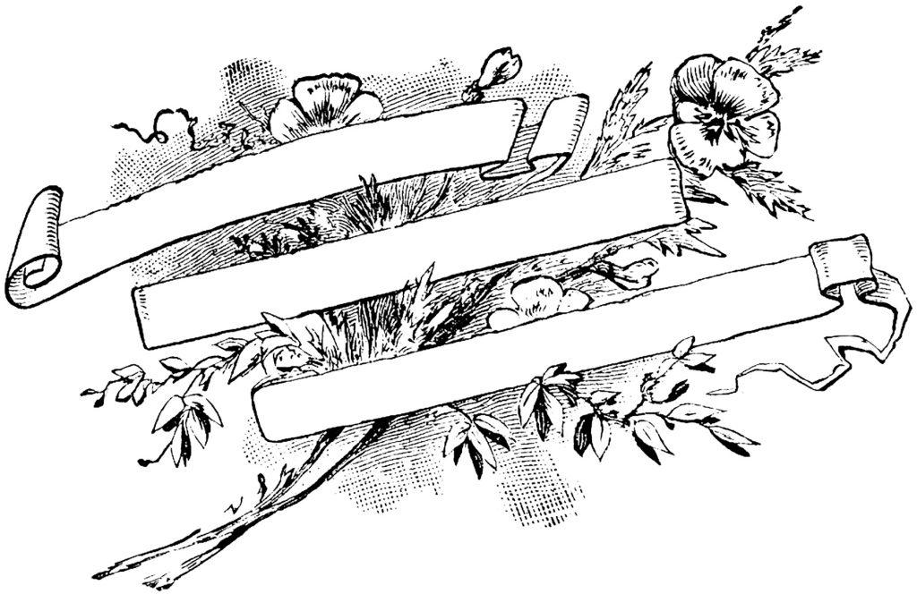 Vintage Floral Banner Image
