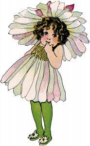 Vintage Flower Fairy Child Image