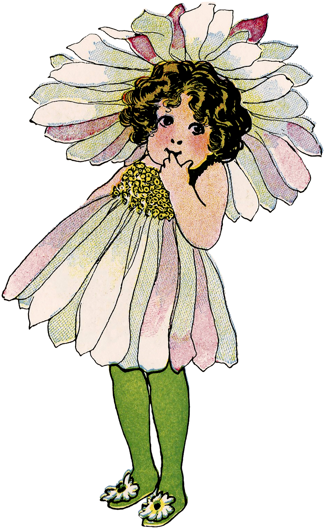 Vintage Flower Fairy Child Image