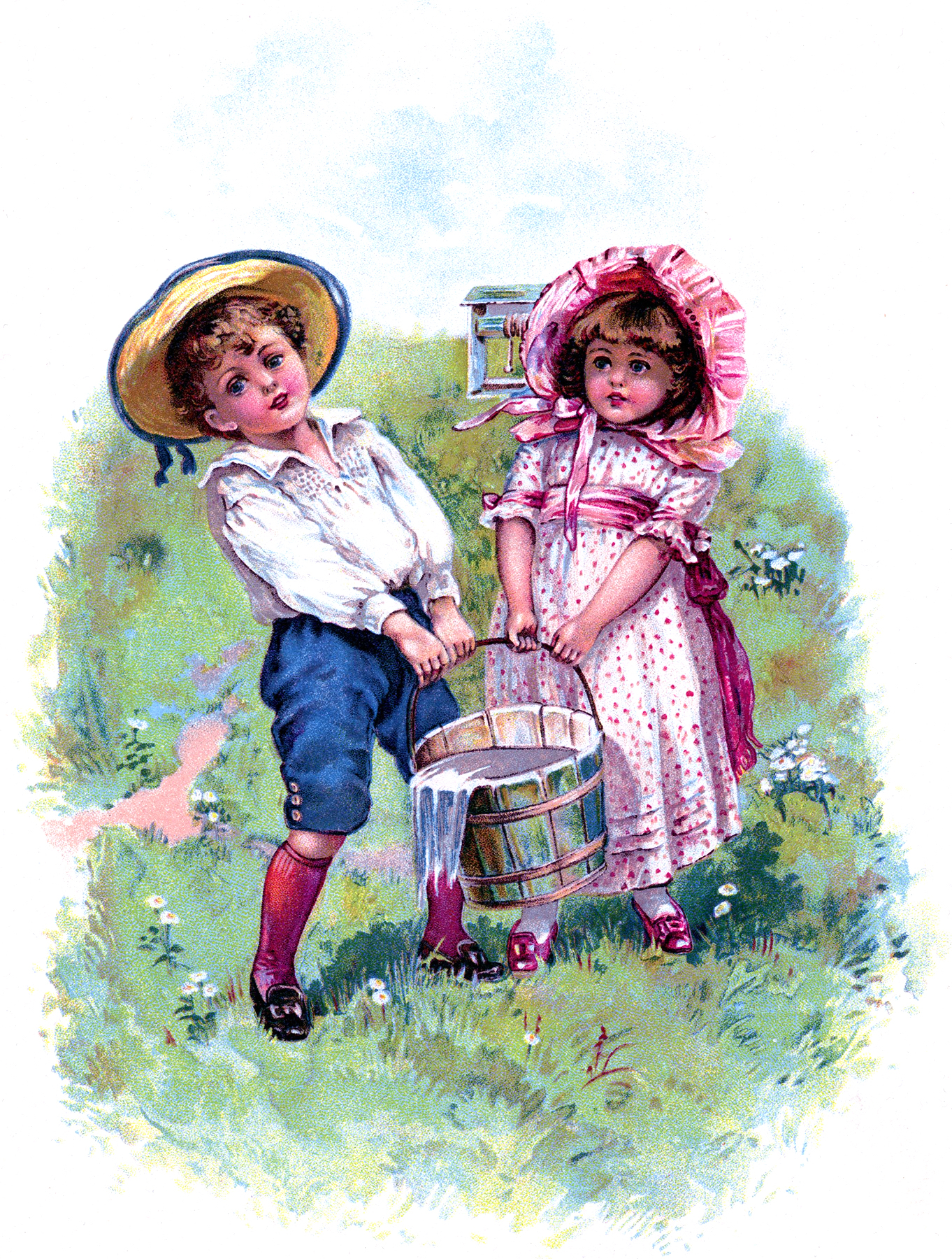 Vintage Jack and Jill Picture