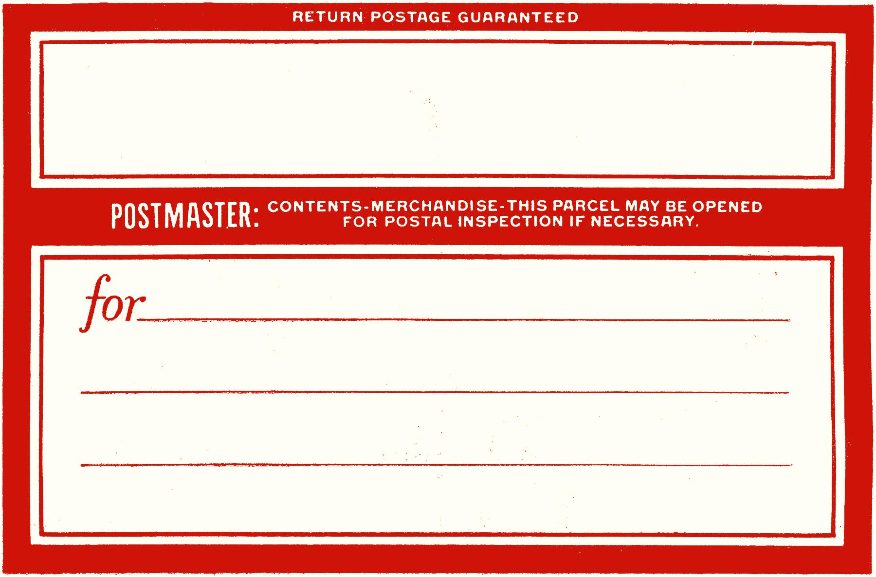 Vintage Postage Label Image