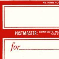 Blank Postmaster label