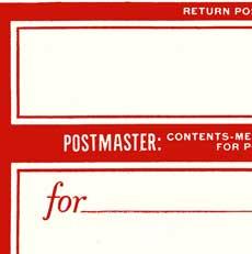 Vintage Postage Label Image!