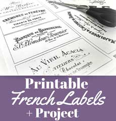 Gorgeous French Typography Labels and Project!