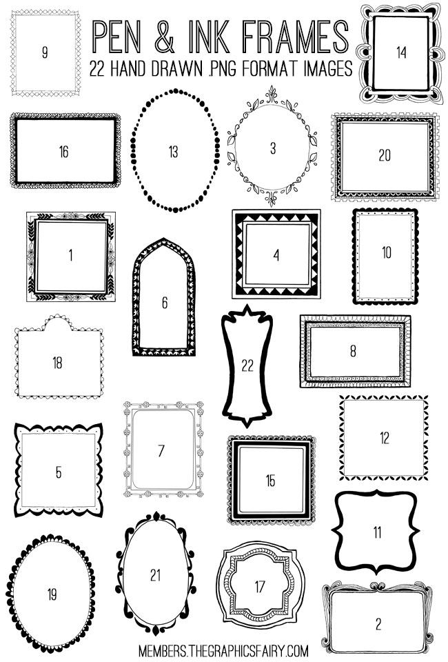 Pen and Ink Frames