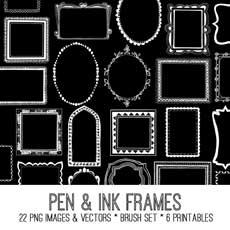 Charming Pen and Ink Frames Kit! TGF Premium