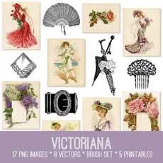 Stunning Victoriana Image Kit – Graphics Fairy Premium Membership!