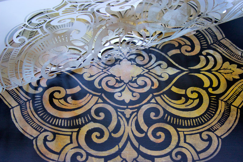 10 How-to-use-Metallic-Gel-Stains-on-Furniture-Thicketworks-for-Heirloom-Traditions-at-The-Graphics-Fairy-Stencil-Reveal