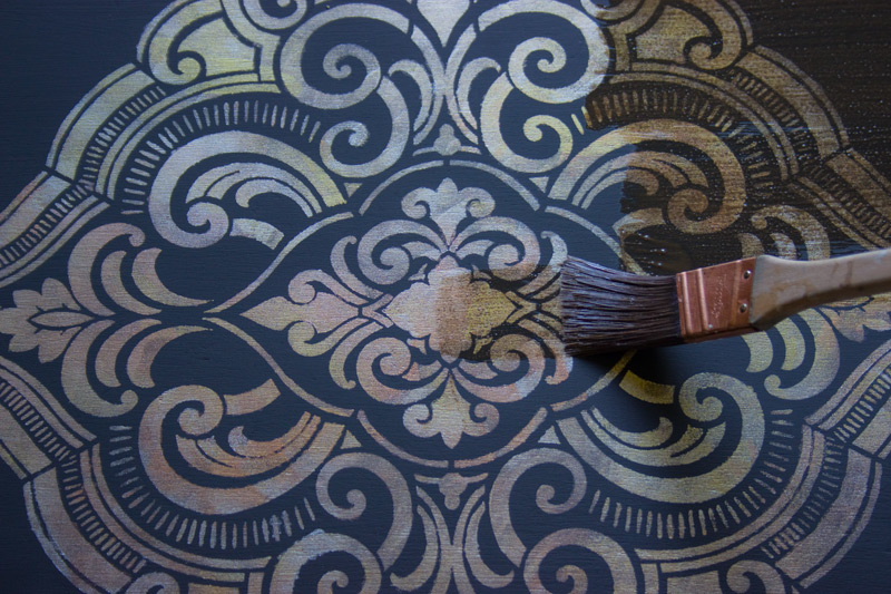 17 How-to-use-Metallic-Gel-Stains-on-Furniture-Thicketworks-for-Heirloom-Traditions-at-The-Graphics-Fairy-Applying-Wax