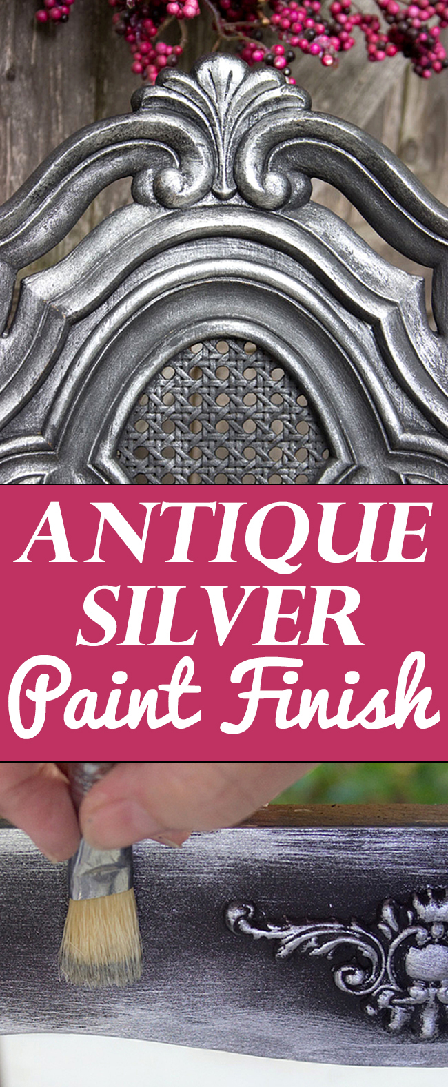 Antique Painted Furniture - Old World Silver Finish