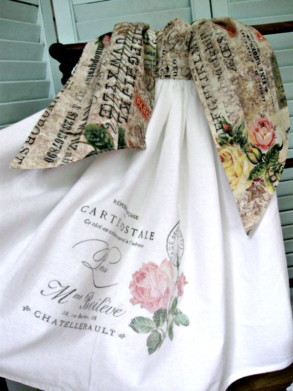 Handmade French Flour Sack Towel - Reader Feature - The Graphics Fairy