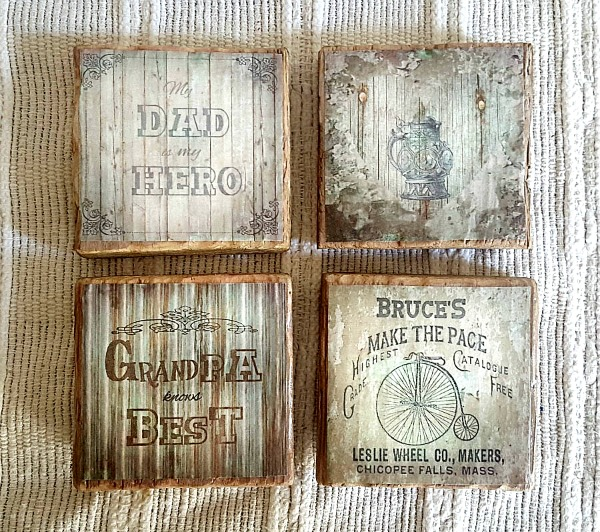 Diy father 39 s day coasters reader feature the graphics for Diy rustic coasters