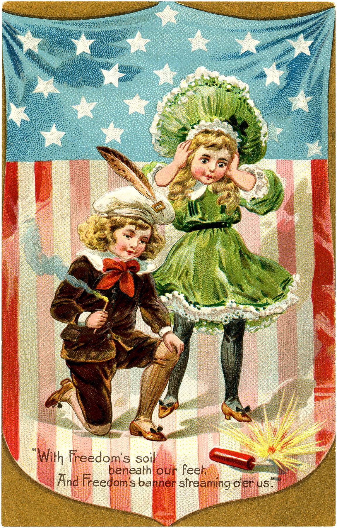 Vintage Firecracker Kids Image