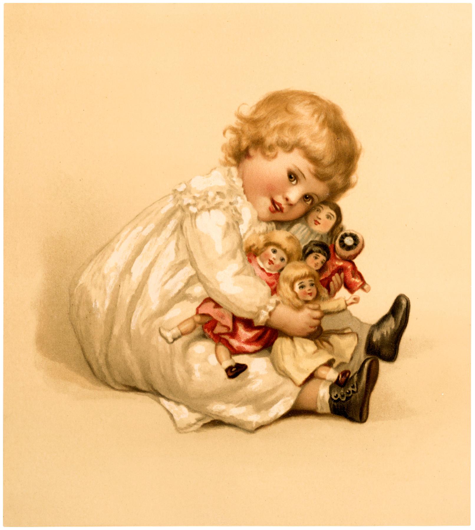 Винтажные картинки кукол