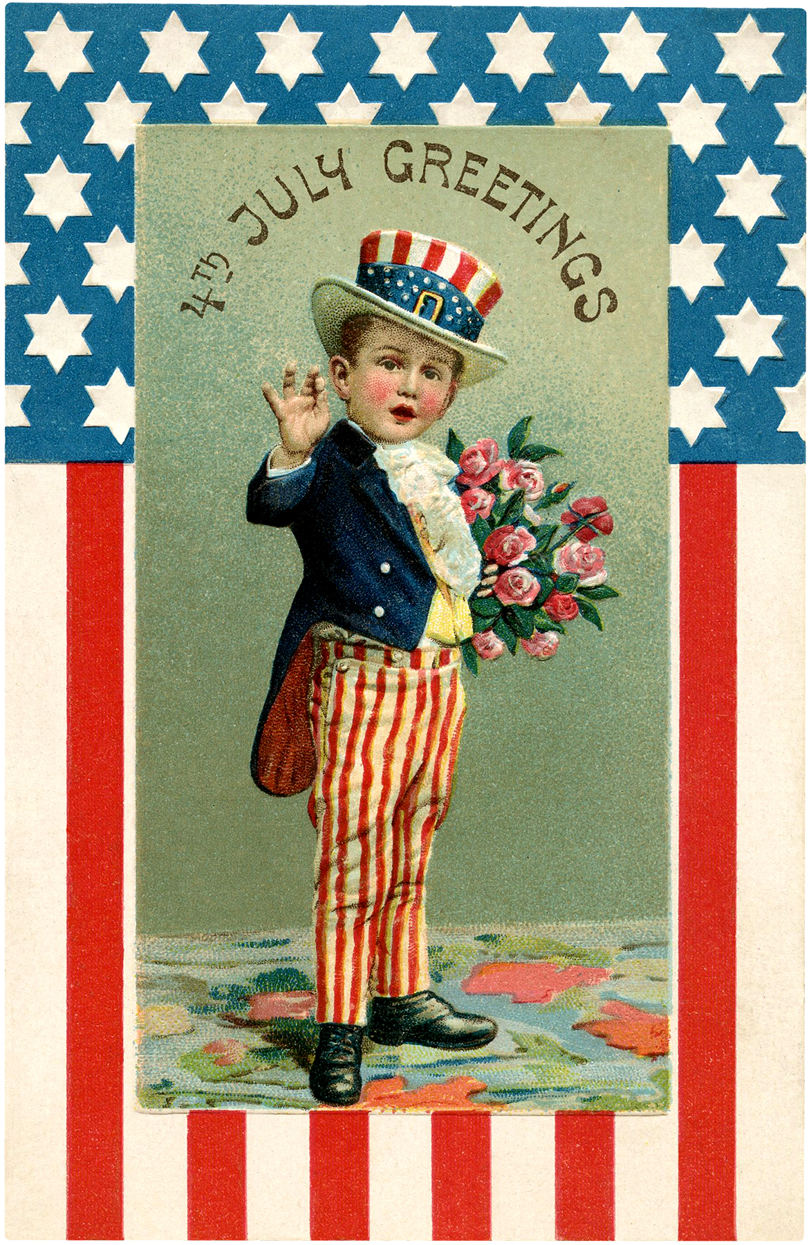 Vintage Young Uncle Sam Image