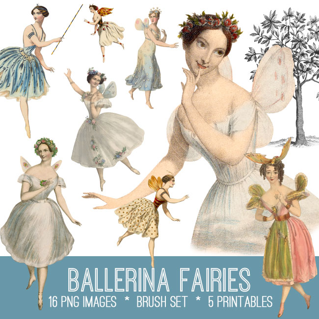 Ballerina Fairies Image Kit