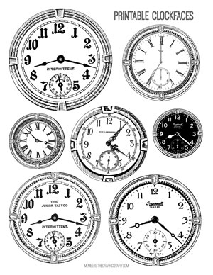 clockface_collages_bw_graphicsfairy