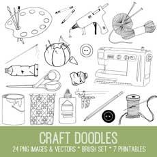 Craft Doodles Image Kit!  – Graphics Fairy Premium Membership