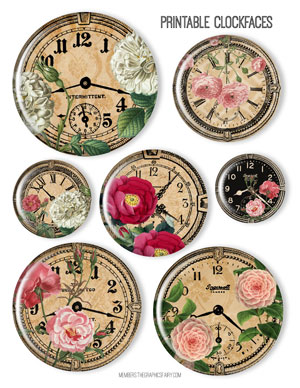 framed_clockface_flower_graphicsfairy