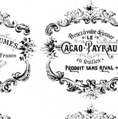 Shabby French Typography Labels + Project – Gorgeous!