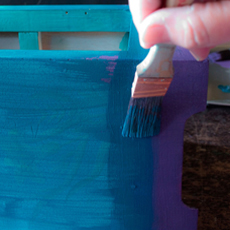 Whimsical Ombré Furniture Finish!