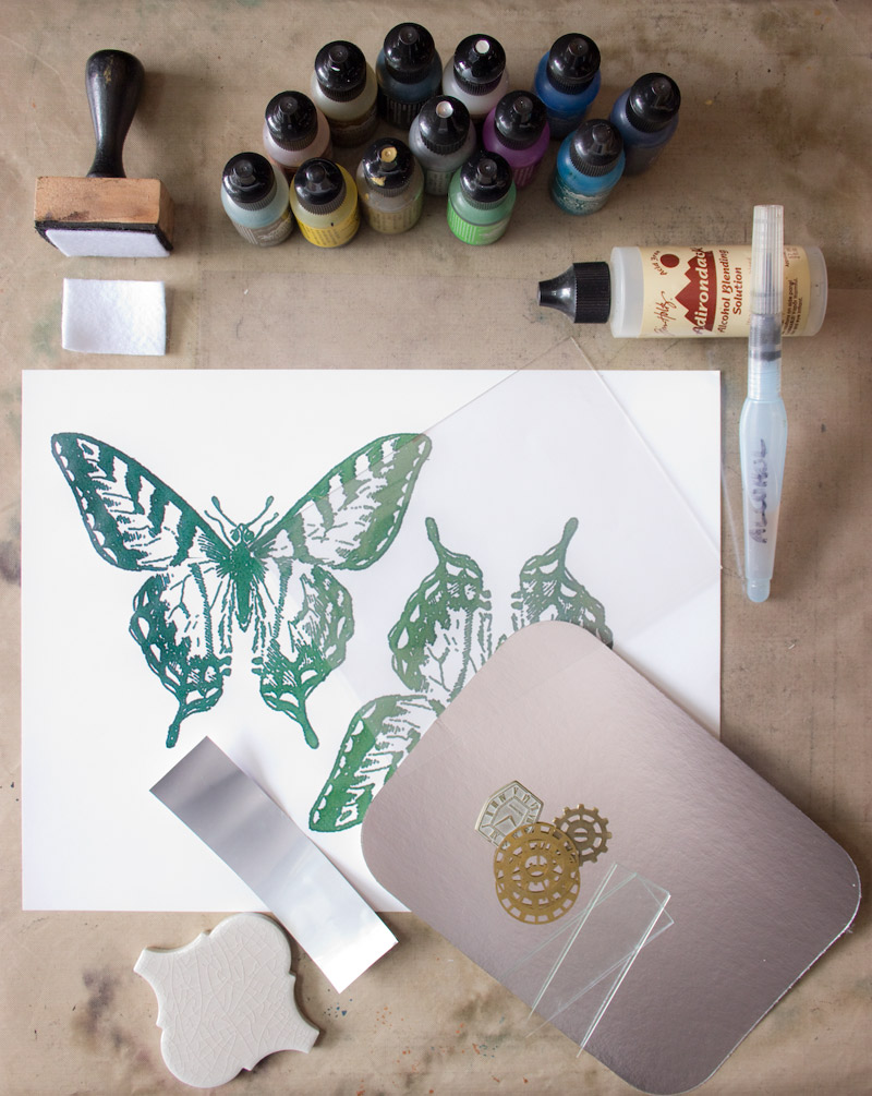 01 Fun-with-Alcohol-Inks-Thicketworks-for-The-Graphics-Fairy-Preparation