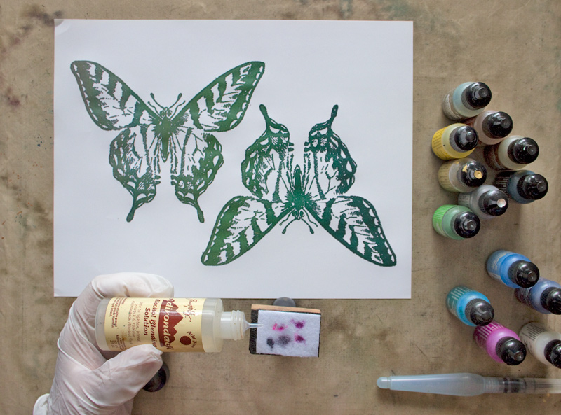 02 Fun-with-Alcohol-Inks-Thicketworks-for-The-Graphics-Fairy-Add-Blending-Solution