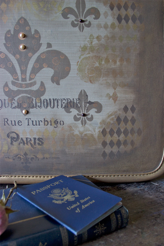 18 Painted-Vintage-Suitcase-Thicketworks-for-Heirloom-Traditions-at-The-Graphics-Fairy-Continental-Elegance