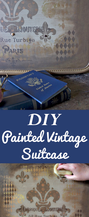 DIY Painted Vintage Suitcase