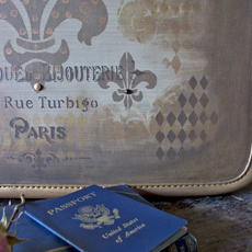 DIY Painted Vintage Suitcase – Tutorial!