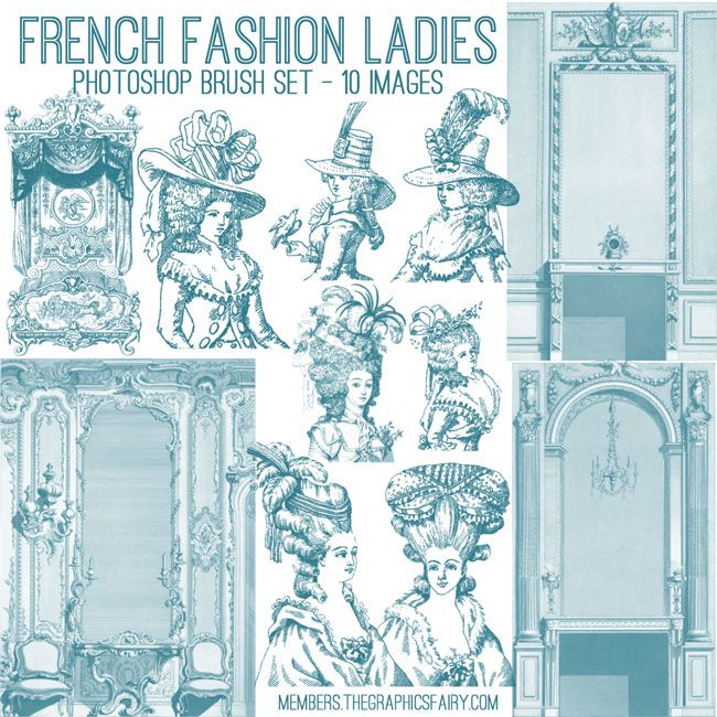 French_fashion_ladies_brushes_graphicsfairy