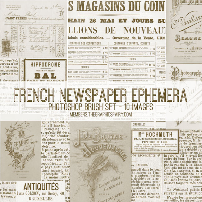 French_newspapers_brushes_graphicsfairy