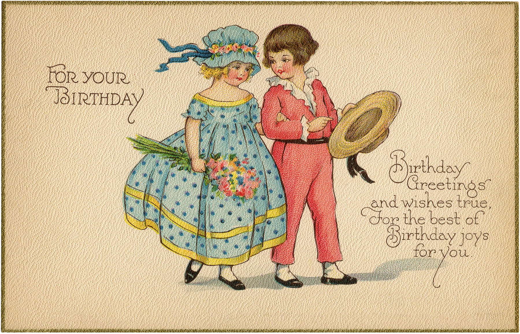 Vintage Birthday Card Image