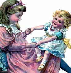 Vintage Children Playing Image!