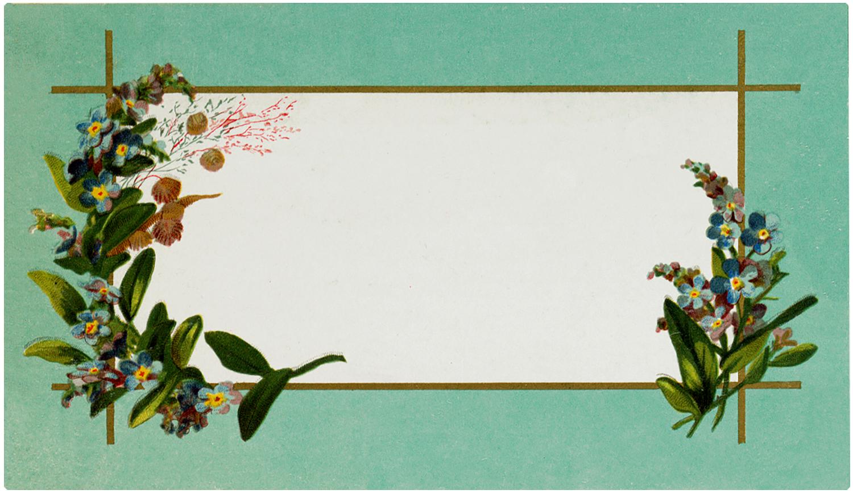 Vintage Floral Label Image