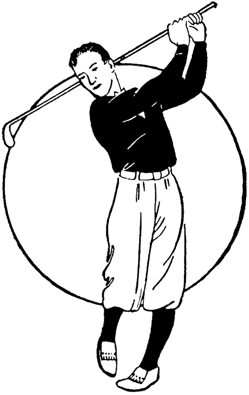 Vintage Golfer Image - The Graphics Fairy