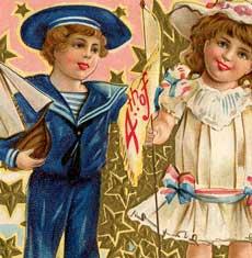Vintage July 4th Kids Image!