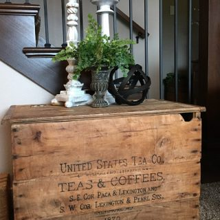 antique wooden crate image transfer