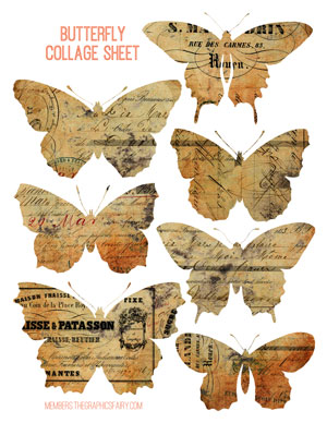 butterfly_collage_paper_graphicsfairy